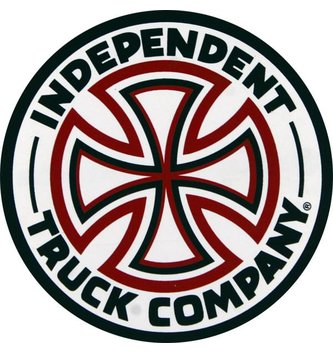 INDEPENDENT TRUCK CO. INDEPENDENT DECAL RED/WHT CROSS