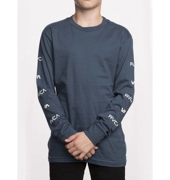 RVCA Boy's Brand Stack Long Sleeve T-Shirt