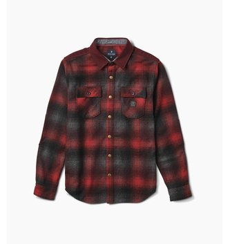 ROARK NORDSMAN  WOVEN FLANNEL RED SIZE LARGE