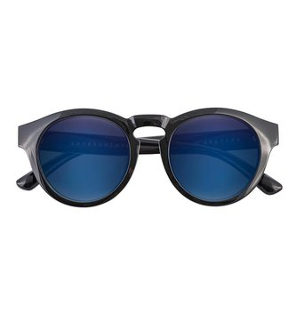 SANDBOX SKYLINE SUNGLASS BLACK GLOSS (BLUE ION).