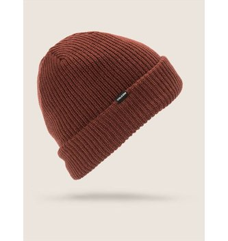 VOLCOM SWEEP LINED BEANIE BURNT RED