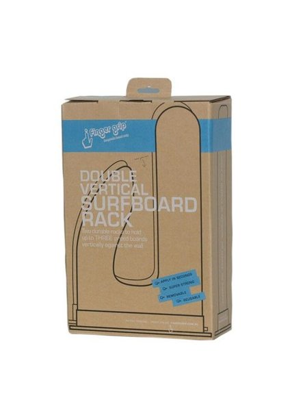 FINGER GRIP FINGER GRIP  Adhesive Vertical Surfboard Rack Double