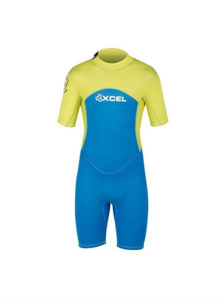 XCEL XCEL Youth Axis Springsuit 2mm Electric Blue Lemon