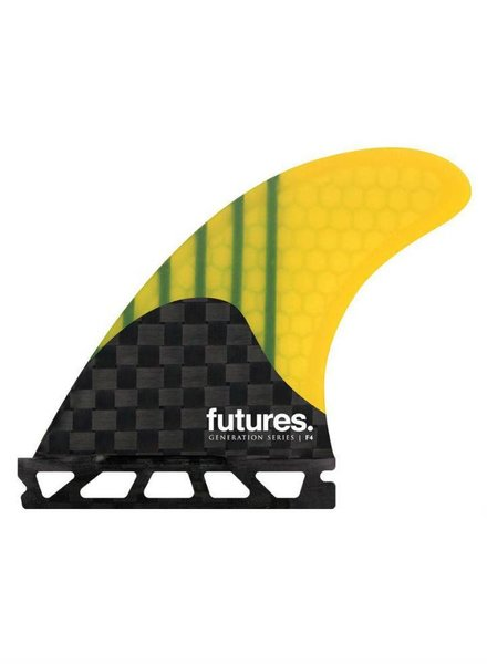 FUTURES FUTURES F4 Generation Series Yellow Five Fin Set (Small)