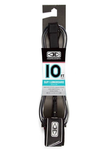 OCEAN & EARTH Ocean & Earth SUP Longboard Leash 10ft