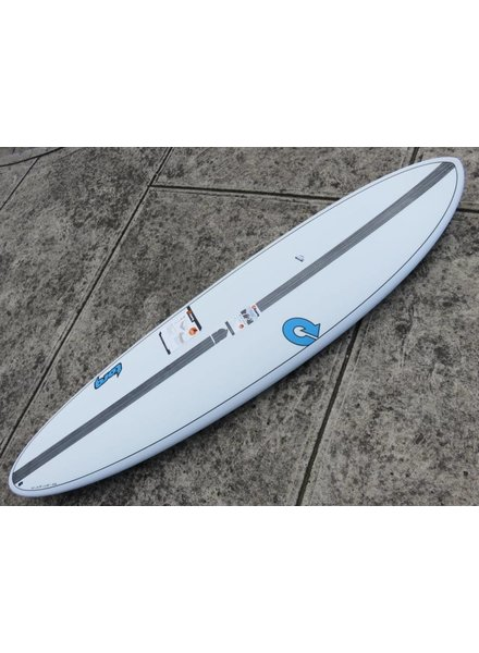 "TORQ TORQ TET Carbon Strip Fun  7'2"" x 21 1/4"" x 2 3/4"" 47.2L Futures White Pinline  (*Cover & Legrope Package available)"