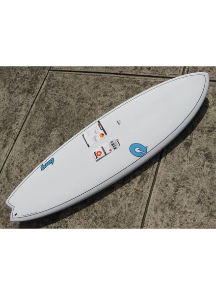 "TORQ TORQ TET Carbon Strip Fish  5'11"" x 20 3/8"" x 2 1/2"" 33.2 L Futures White Pinline  (*Cover & Legrope Package available)"