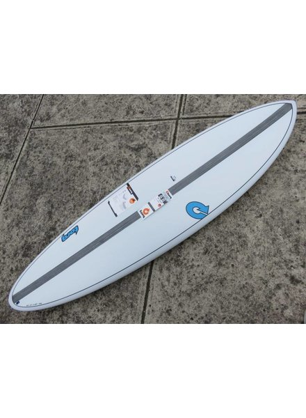 "TORQ TORQ TET Carbon Strip Fun  6'8"" x 21"" x 2 3/4"" 41.8L Futures White Pinline  (*Cover & Legrope Package available)"