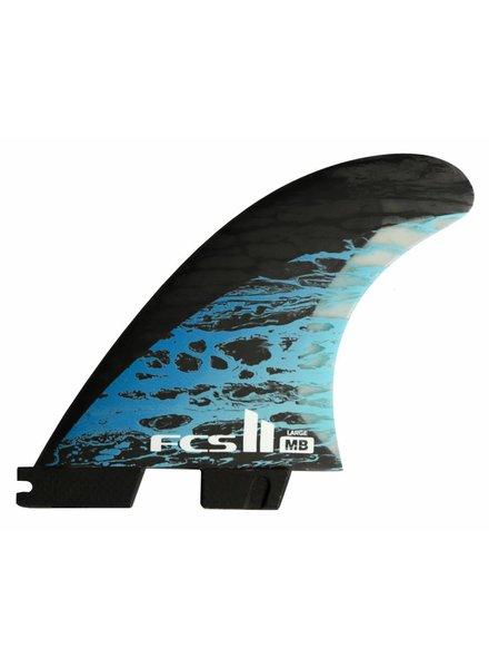 FCS FCSII MB PC Carbon Blue Large Tri Fin