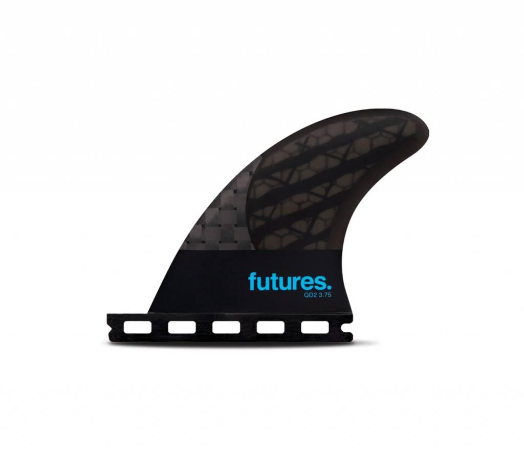 FUTURES Futures QD2 3.75 Blackstix Quad Rear Smoke /Turquoise