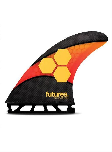 FUTURES Futures AM2 Techflex 5-Fin Orange/Red