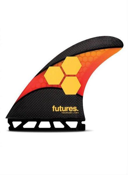 FUTURES Futures AM2 Techflex Thruster Orange/Red