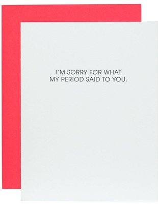 Chez Gagné Chez Gagné Greeting Cards My Period Said