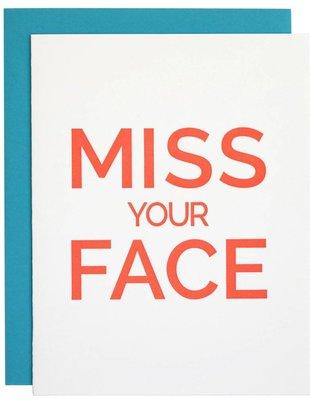 Chez Gagné Chez Gagné Greeting Cards Miss Your Face