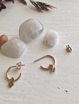 Pika & Bear 'Mimas' Hoop Stud Earrings