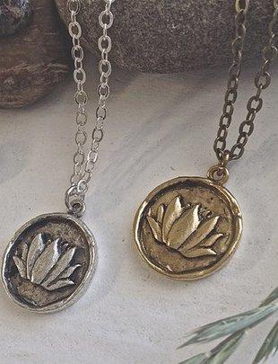 Pika & Bear 'Kamala' Lotus Talisman Necklace