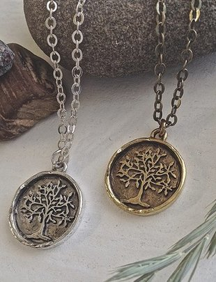 Pika & Bear 'Old Growth' Tree Of Life Talisman Necklace