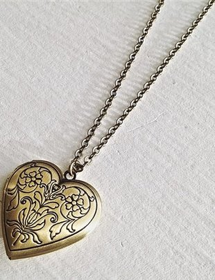 Pika & Bear 'Truly Madly Deeply' Heart Locket Necklace