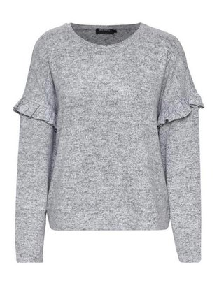 Soaked in Luxury Soaked in Luxury Viscia Sweater Crew Neck W/ Frills