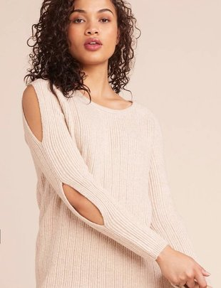 BB DAKOTA BB Dakota Sweater Crew Neck Ribbed Knit