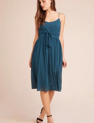 BB DAKOTA BB Dakota Take A Bow Dress Babydoll Midi W/ Tie