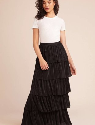 BB DAKOTA BB Dakota Skirt All That Jazz Layered Pleated Maxi