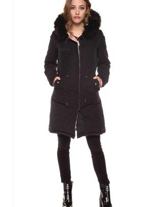 DEX Dex Jacket Reversible Longline Parka w/ Faux Fur