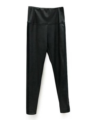 RD INTERNATIONAL Rd Int'l Pant High Waisted Faux Leather W/ Stripe Detail
