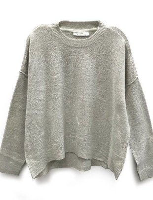 RD INTERNATIONAL RD Int'l Sweater L/Slv Crew Neck Boxy Crop