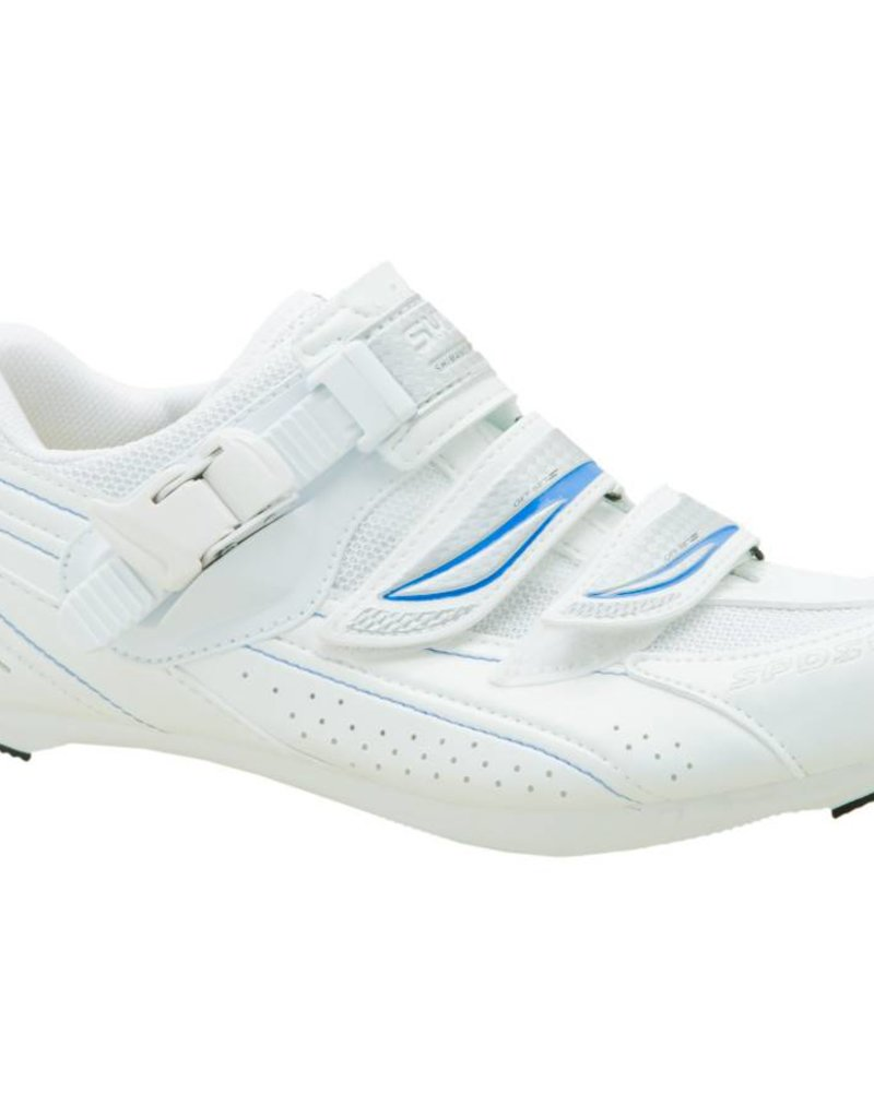 Shimano BICYCLE SHOES SH-WR41 SIZE 39.0 WHITE/BLUE FOR WOMEN IND.