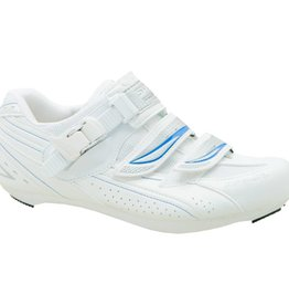 Shimano BICYCLE SHOES SH-WR41 SIZE 38.0 WHITE/BLUE FOR WOMEN IND.