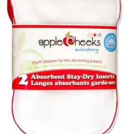 Applecheeks Applecheeks 2 Pack Microterry Insert at Ready Set Baby
