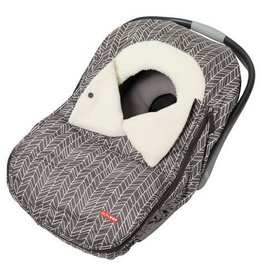 SKIP HOP CAR SEAT COVER-GREY FEATHER