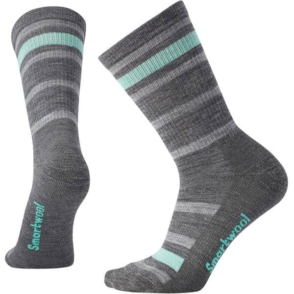 SmartWool Hike Light Crew Striped Socks Womens