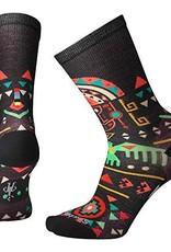 SmartWool Totem Valley Print Crew Socks WomensTotem Valley Print Crew Womens Black(001) M