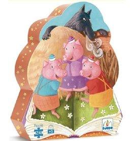 Djeco The 3 little pigs 24-pc puzzle