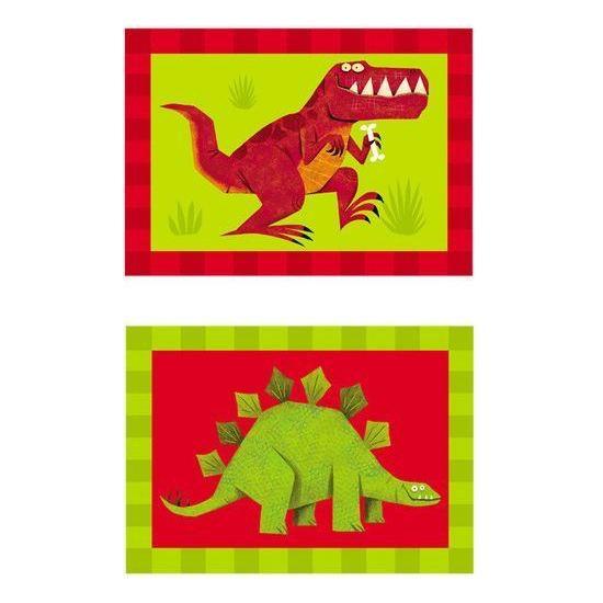 Crocodile Creek Casse-tête à 2 côtés Dinosaures de 24 pièces