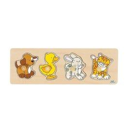 Goki 4 pcs Wooden Puzzle  2y+