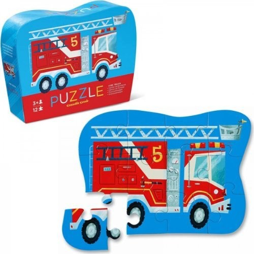 Crocodile Creek Mini Fire Truck Puzzle 12 pcs