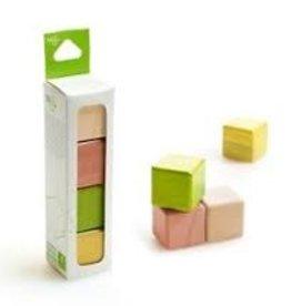Tegu A la carte Cubes  Magnetic Wooden Blocks Jungle