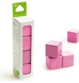 Tegu A la carte Cubes Magnetic Wooden Blocks Pink