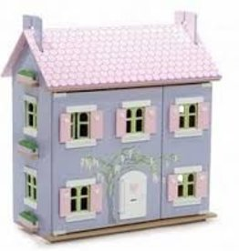 Le Toy Van Large Lavender House (Furniture and Dolls not included)