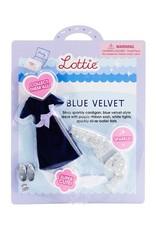 Arklu Blue Velvet dress Lottie