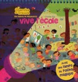 Livre Cherche et trouve -Vive l'École!<br /> Avec lampe de poche magique