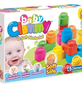 Clementoni 12 Soft Blocks Set baby Clemmy Made in Italy