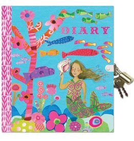 Eeboo Mermaid diary with lock eeBoo