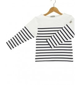 Vêtements Long-sleeve t-shirt white and navy blue Size 3 yars
