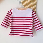 Armor Lux Long-sleeve t-shirt red and white Size 3 years
