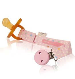 Hevea Organic Pacifier and Teether Holder Pink