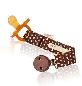 Hevea Organic Pacifier and Teether Holder Brown